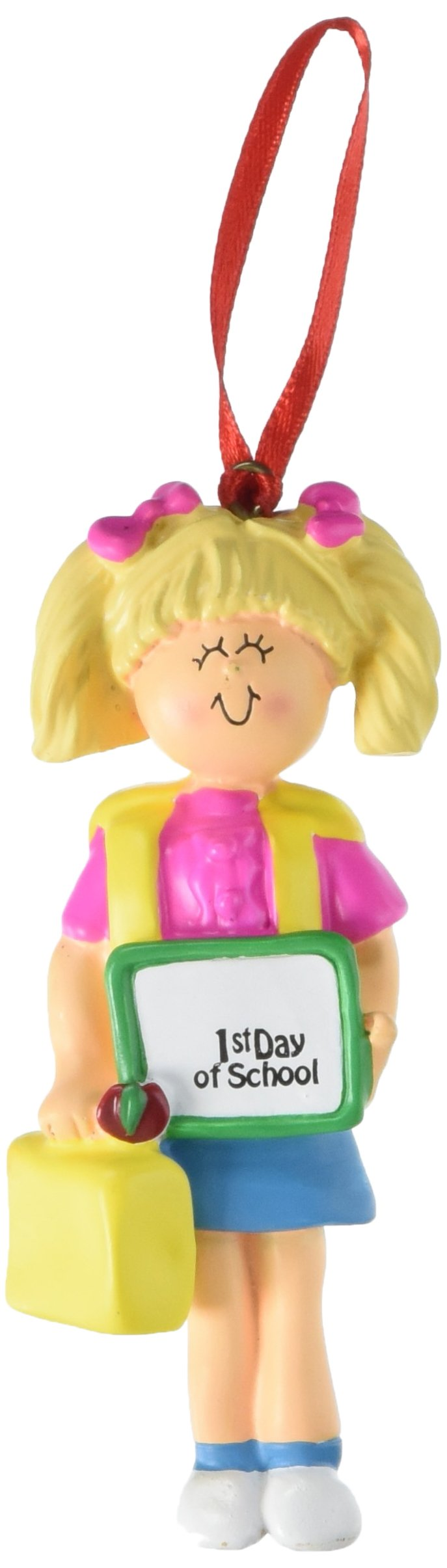 Ornament Central OC-167-FBL Female Blonde First Day of School Figurine