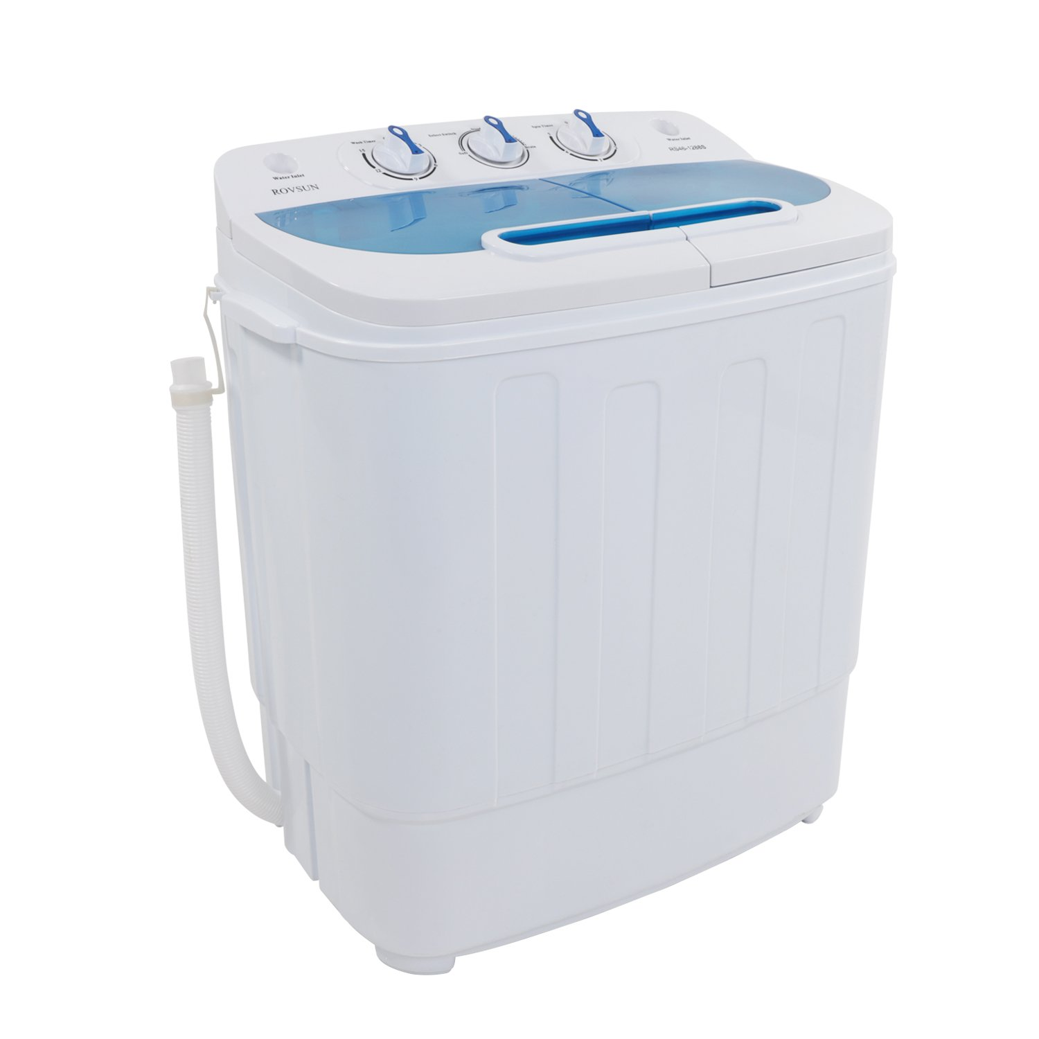 ROVSUN zokop Portable Twin Tub Washing Machine, Electric Compact Mini Washer, 13.4LBS Capacity Energy Saving, Spin Cycle w/Hose, Great for Home RV Camping Dorms Apartments College Rooms