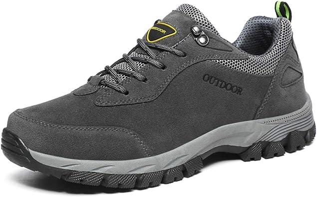 Zapatos de Trekking para Hombres Botas de Trekking al Aire Libre Zapatillas de Escalada Impermeables, Resistentes al Agua, sin Forro, de Gamuza Superior Superior: Amazon.es: Zapatos y complementos