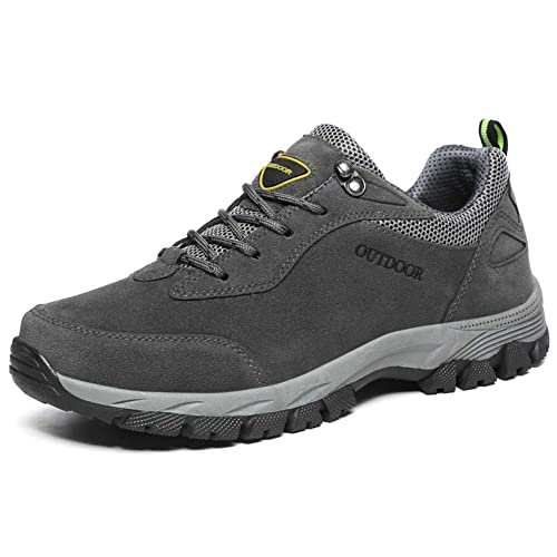 Zapatos de Trekking para Hombres Botas de Trekking al Aire Libre Zapatillas de Escalada Impermeables, Resistentes al Agua, sin Forro, de Gamuza Superior ...