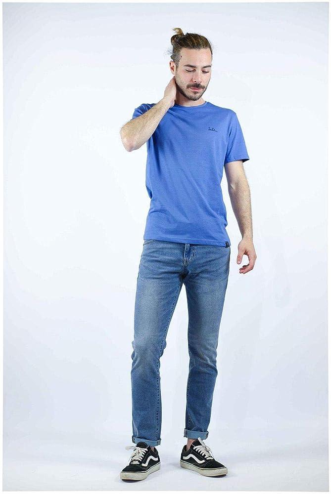 SIX VALVES Camiseta M/C Logo 116556 Hombre 3XL Azul: Amazon.es: Zapatos y complementos
