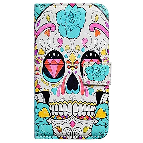 Bfun Packing Flower Floral Skull Wallet Leather Cover Case For Samsung Galaxy Note 3