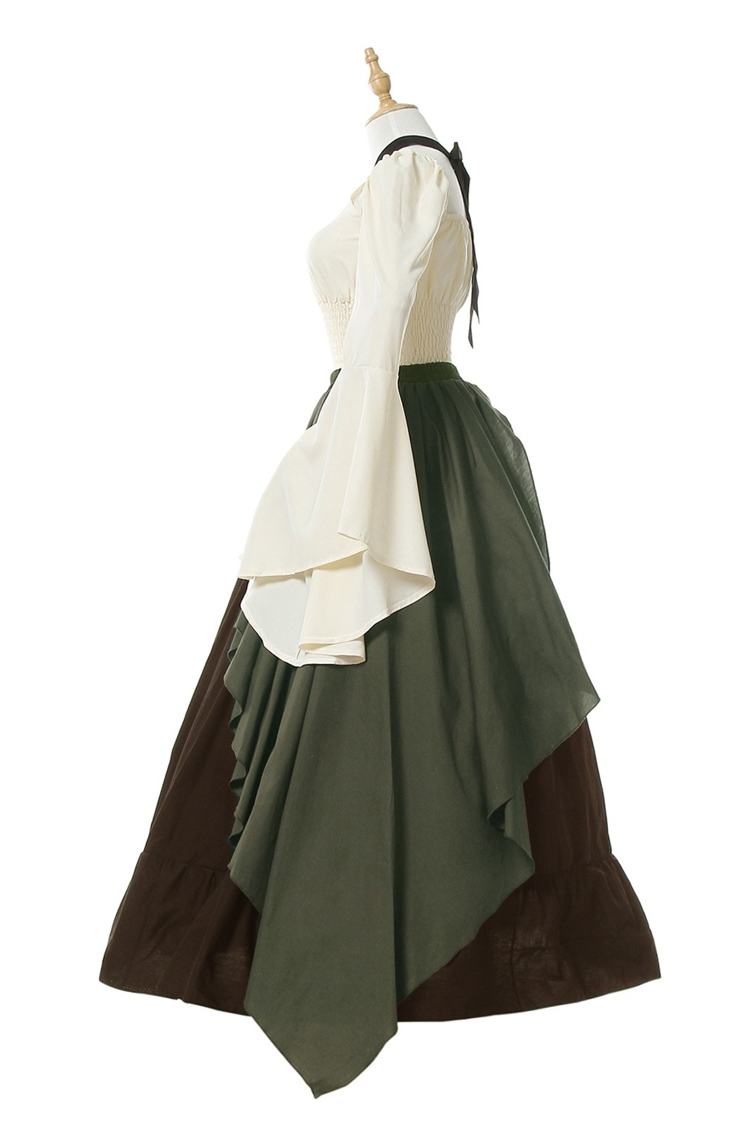 Nuotuo Womens Renaissance Medieval Costume Dress Gothic