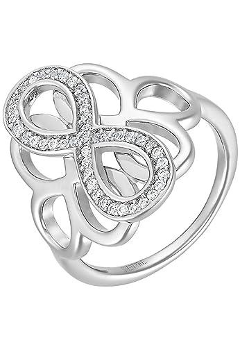 66714d8134c744 JETTE Silver Damen-Ring SGA PEPPER 925er Silber 43 Zirkonia silber ...
