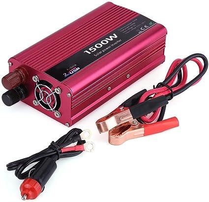 500W 12v Inversor Coche Cargador de viaje adaptador de alimentación de red red 240V 1000W Pico