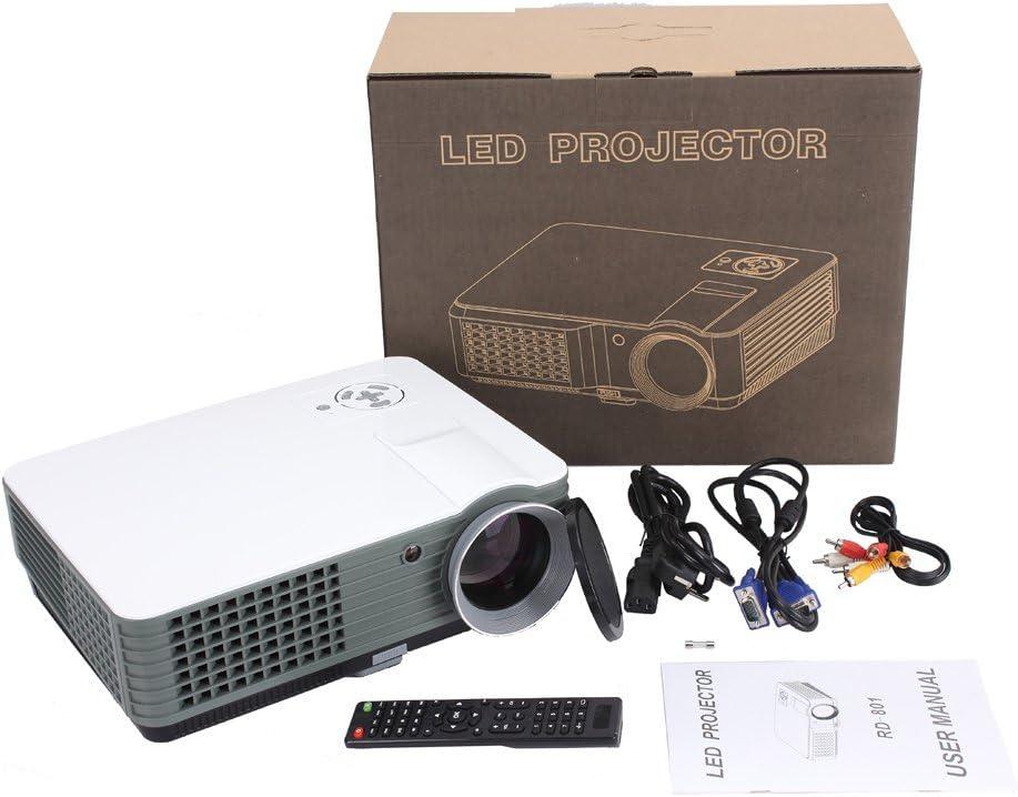 高品質LCD LEDプロジェクター2000ルーメン3DビーマーホームシネマシアタープロジェクターテレビLCDマルチメディアビデオゲームHDMI VGA USBビデオプロジェクター