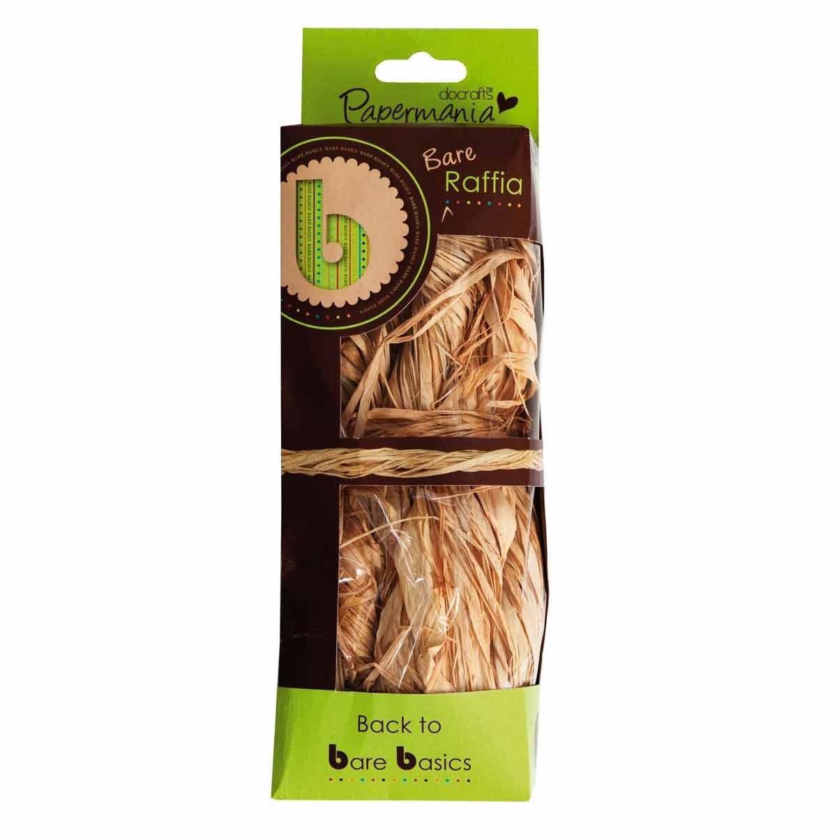 Papermania - Confezione da 50 g di rafia naturale Docrafts PMA1751100