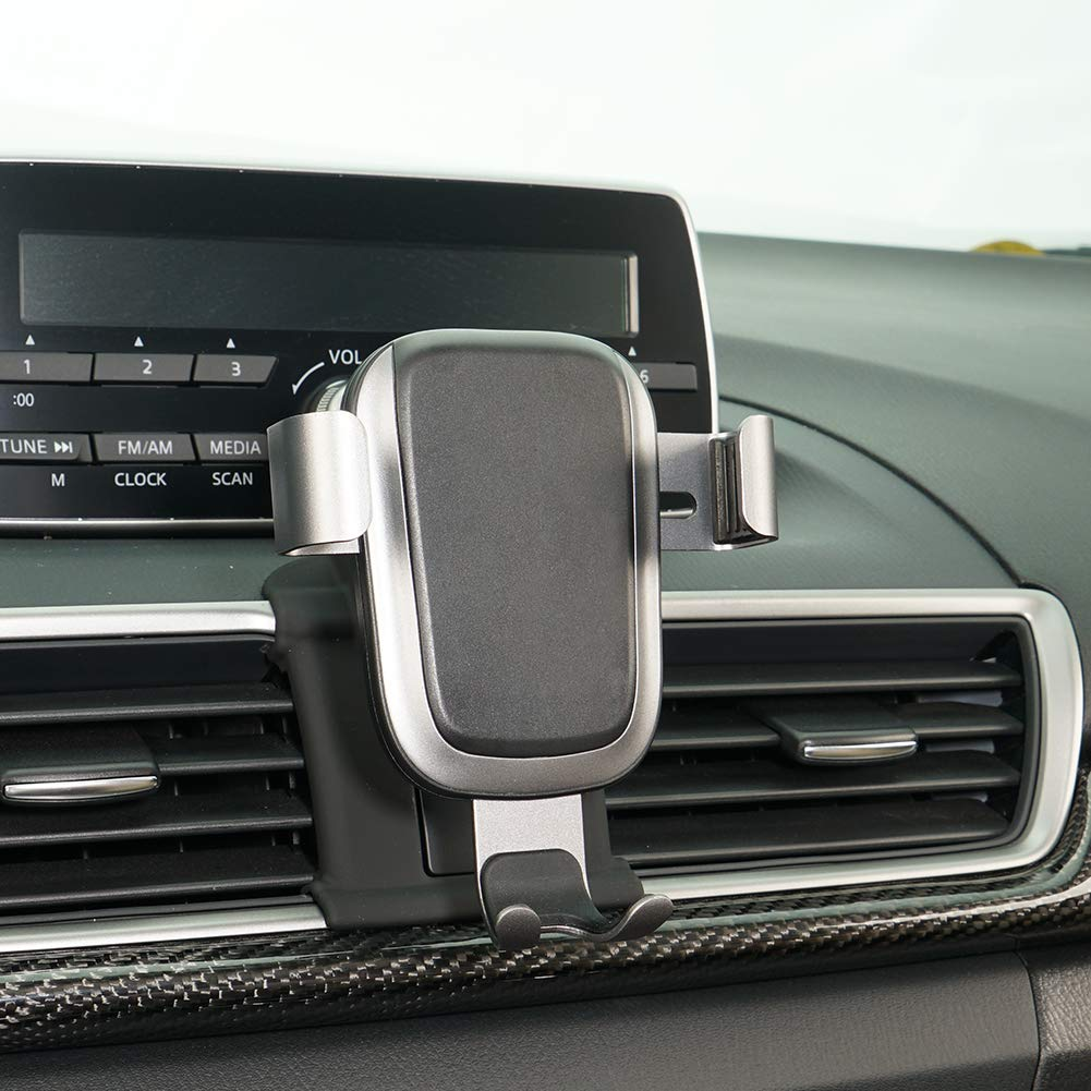 Phone Holder for Mazda 3, Dashboard Air Vent Adjustable Cell Phone Holder for Mazda 3 2019 2018 2017,Phone Mount for iPhone 8 iPhone X,Wireless Charging Smartphone 5.5~6 Inch by CLEC