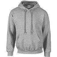 Gildan Sport Grey Hoodie Heavy Blend Blank Plain Hooded Sweat Sweater Mens S-XXL