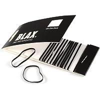 BLAX Black Snag-Free Hair Elastics - 2mm-12ct