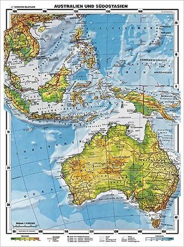 XXL Original Relief Australien und Südostasien physisch Schulversion ...