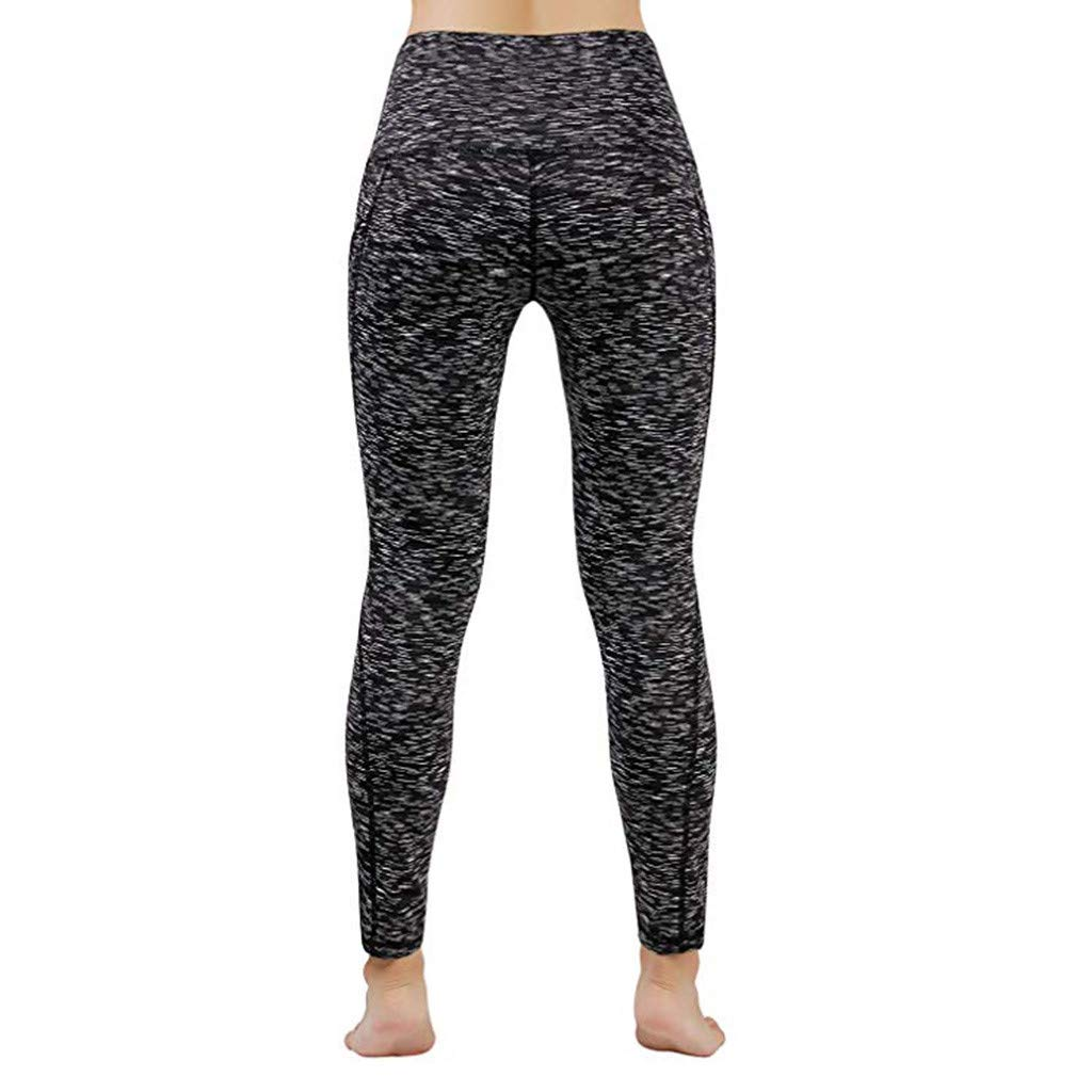 GIOKFEND Women Workout Out Pocket Leggings Fitness Sports Gym Running Yoga Athletic Pants (XL, Black) by GIOKFEND (Image #2)