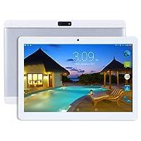 Beneve Último Tablet 2 + 32GB Almacenamiento Android 7.0 Nougat Dual Sim 4G Panel de 10.1 HD IPS Pulgadas, Procesador MTK QuadCore WiFi PC-Blanco