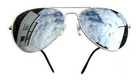 PURECITY PIPEL – Gafas de sol FBI – Montura plata – cristal efecto Espejo – aviador
