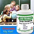 Little Wonders Focus Formula For Kids, Focus, Attention, School Study, Cognition, Brain Support #1 NON STIMULANT, NON-HABIT FORMING, & NON ADDICTIVE BRAIN FOCUS FORMULA FOR KIDS 45 Days supply