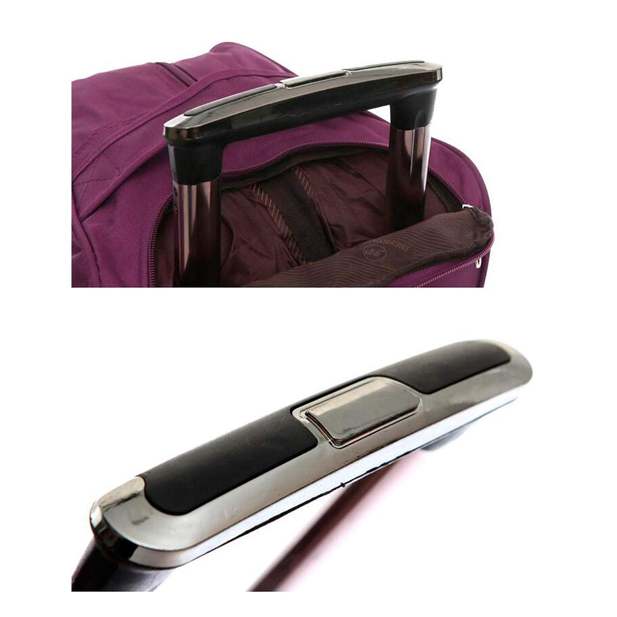 Travel Organizer Handbag Travel Case 20 Inches Latest Style Soft Bag Shengshihuizhong Trolley Case Color : Brown, Size : 24 Simple Style