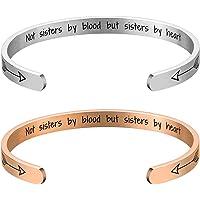 Lcbulu Friendship Bracelets Gifts for Women - 2PCS Best Friend Bracelet for 2, Not Sisters by Blood but Sisters by Heart…