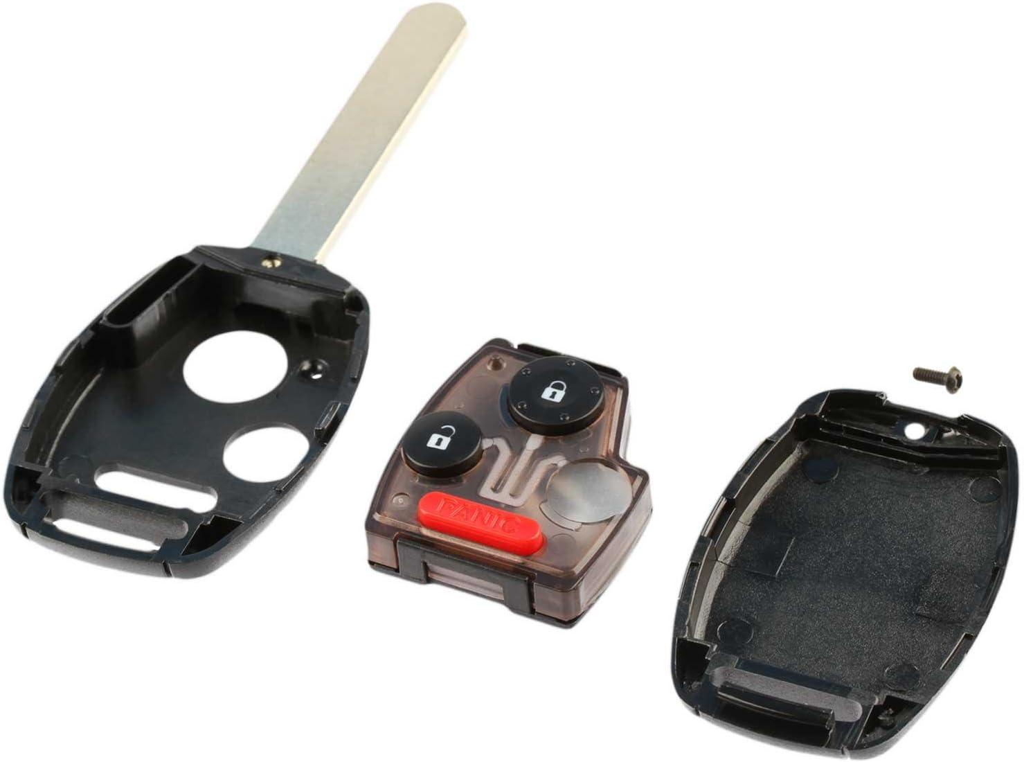 Key Fob Keyless Entry Remote Shell Case /& Pad fits Honda Accord /& CR-V 2003 2004 2005 2006 2007 OUCG8D-380H-A