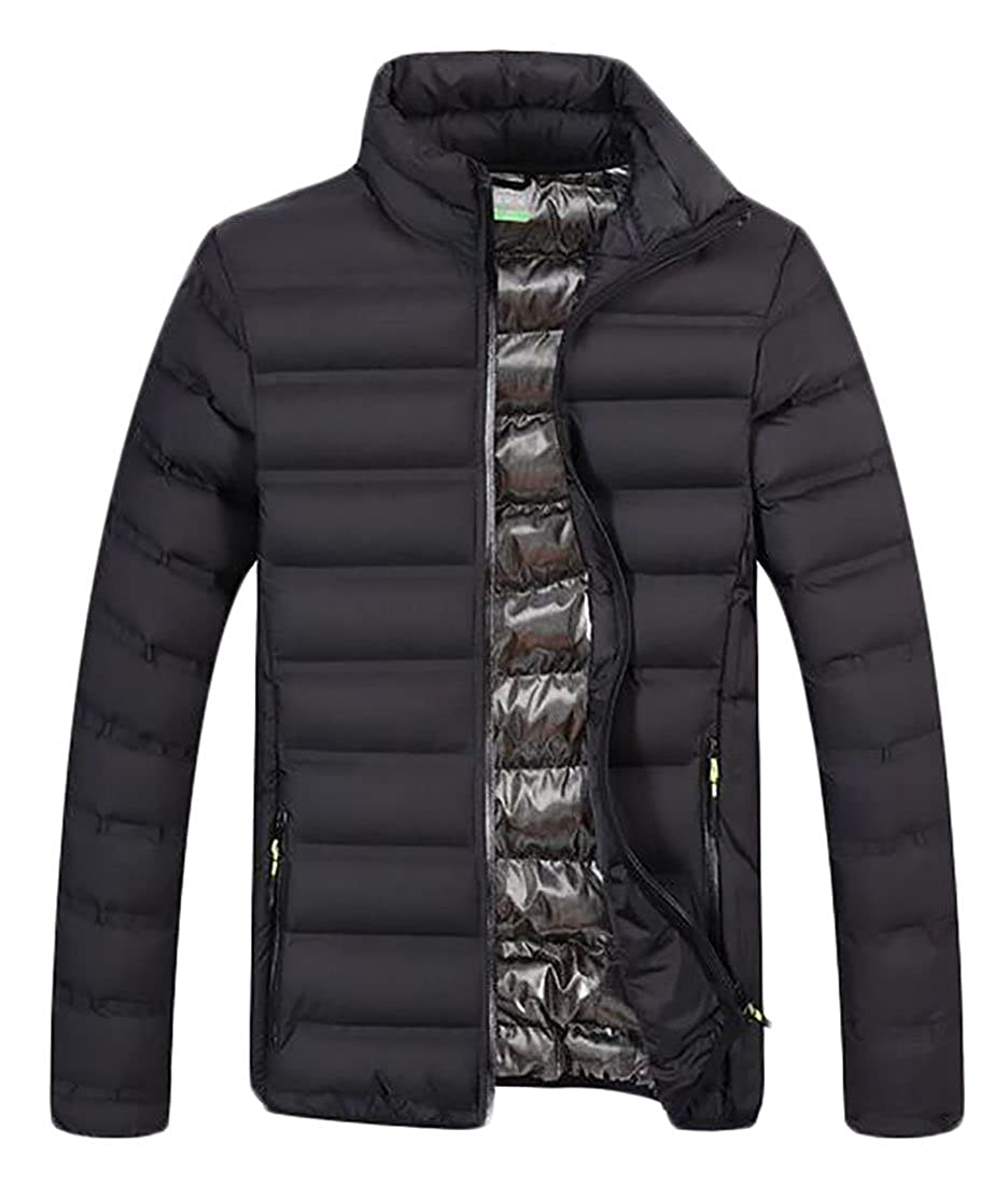 uninukoo-men clothes Unko Mens Winter Warm Outwear Light Weight Padded Quilted Jacket