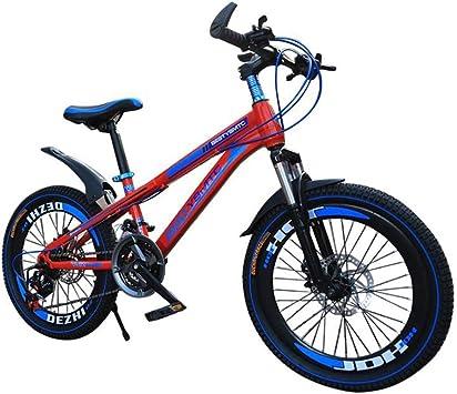 TD Bicicleta para Niños Bicicleta De Montaña Hombres Y Mujeres Estudiante Niño Bicicleta 20/22/24/26 Pulgadas Freno De Disco Doble Velocidad Variable Bicicleta V0062: Amazon.es: Deportes y aire libre