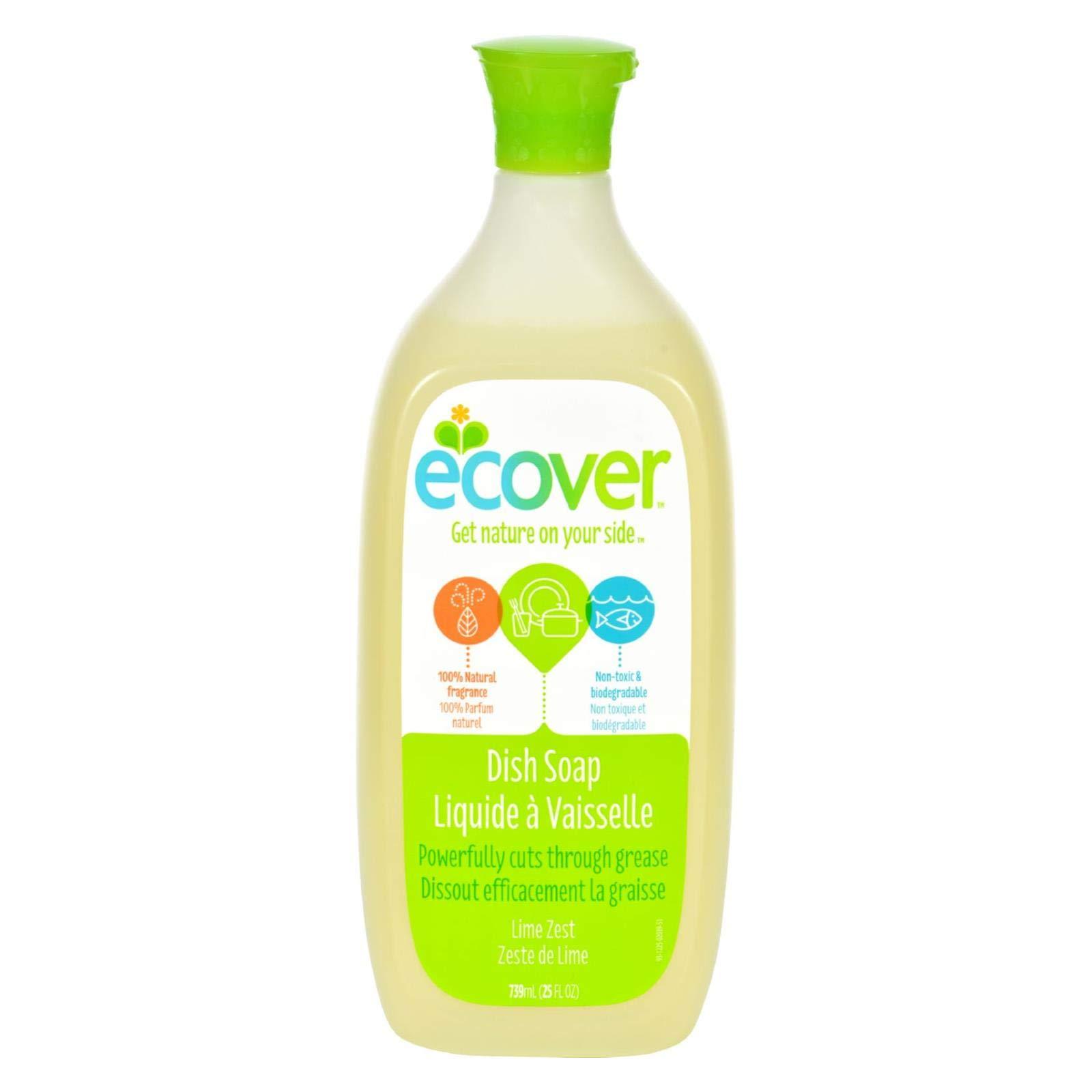 Ecover Liquid Dish Soap - Lime Zest - 25 oz - Case of 6