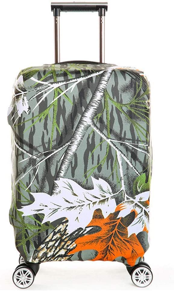 Luggage Cover 18 to 32 Inch Anti-Scratch Travel Luggage Cover Rainproof Elastic Suitcase Protector Anti-Scratch Dustproof Suitcase Cover Color : Green, Size : M 22-24