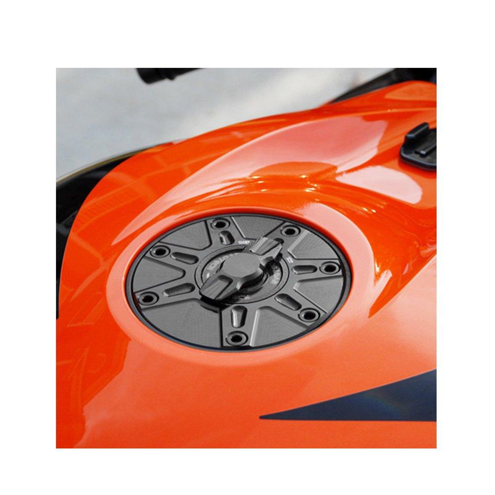 NIMBLE Black CNC 1//4 Quick Lock Fuel Cap For Honda VTR 1000 CB 919 Hornet 900 All Year MC Motoparts