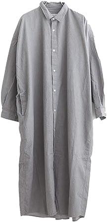 fdd3bf4dc8b9d グレー  81937 prit(プリット) 20 1ミニヘリンボーンレギュラーカラービッグシャツワンピース  服&ファッション小物