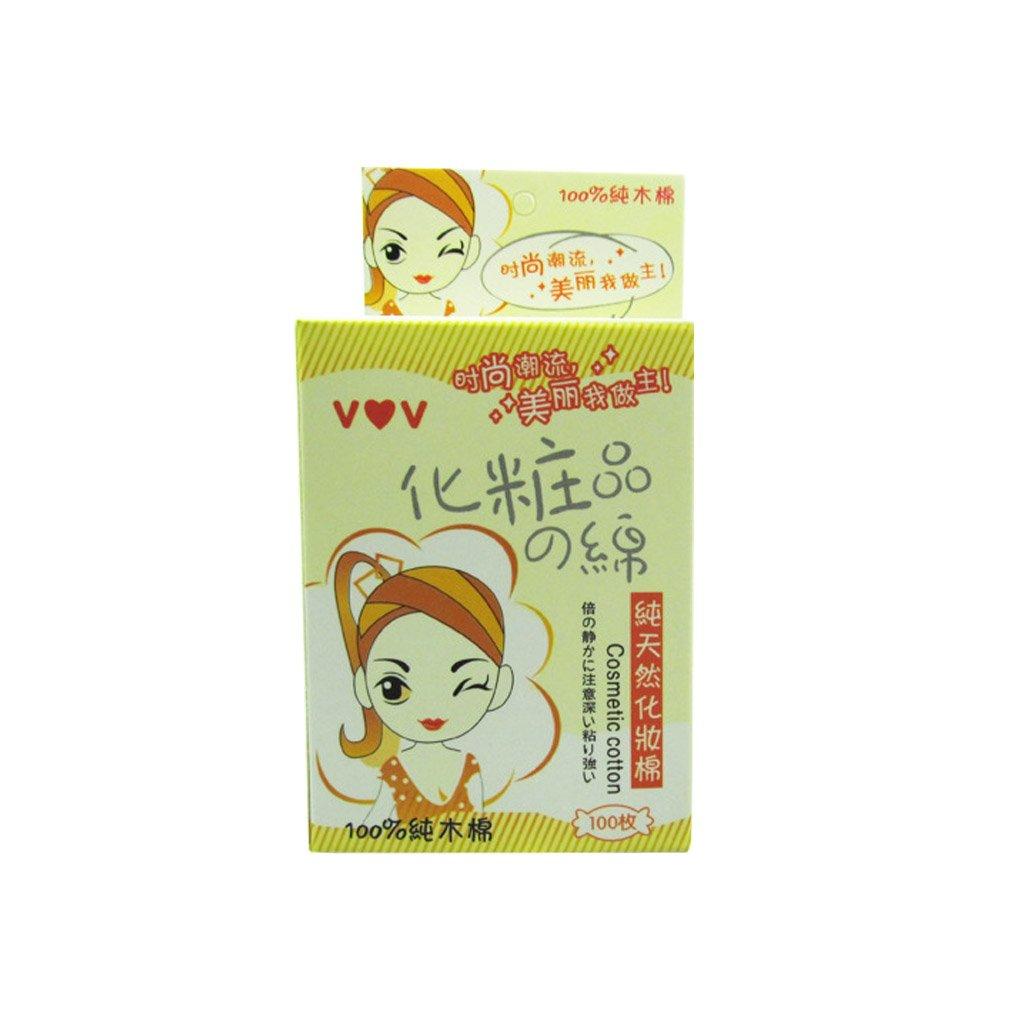100pcs/set Femmes Filles Maquillage de visage coton Tapis visage coton Hypoallergénique Puff Wash Nettoyage Pad Maquillage Wipe (boîte de couleur aléatoire) Topker