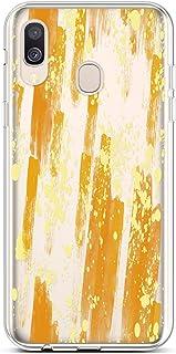 QPOLLY Compatible avec Coque Samsung Galaxy A40 Transparente Ultra Mince Silicone Housse Étui de Protection Clair Design avec Motif Imprimé [Exact Fit] TPU Souple Case Anti-Choc Cover,Fleur Blanche