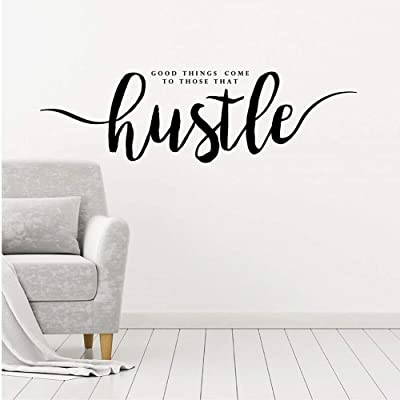 Spk Sticker Good Things Come to Those That Hustle Quote Wall Art Decal Words Lettering Decor Removable Bedroom Living Room Decoration: Baby