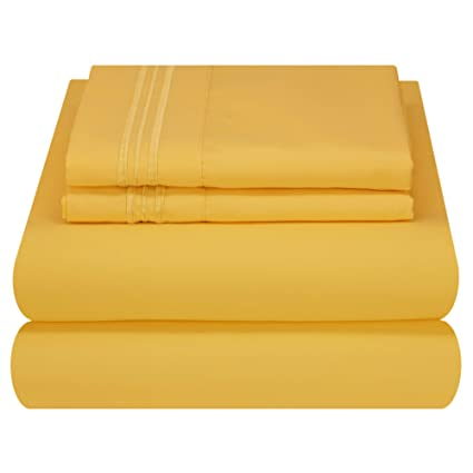 Amazon.com: Mezzati Luxury Bed Sheet Set   Soft and Comfortable