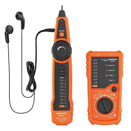 Cable Tester, Meterk RJ11 RJ45 Line Finder Handheld Wire Tracker ...