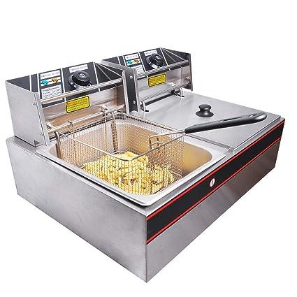 DEEP Fat Fryer 8+8 Liter Stainless Steel ** 2 Year Warranty