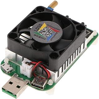 Homyl Tester Carico Elettronico USB Ventola Controllo Temperatura Intelligente LD35