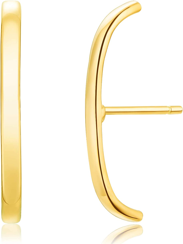 18K Gold Plated Sterling Silver Suspension Hoop Earring Ear Suspender Minimalist Ear Cuff Rose Gold Wrap Hoop Silver Huggie Earring