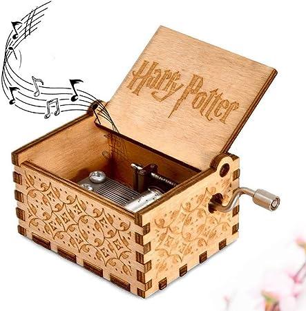 Shi Ran - Caja de música, diseño de Harry Potter grabada de Madera, Caja Decorativa, tamaño de 2,55 x 1,97 x 1,97 Pulgadas (6,5 x 5 x 3,8 cm), Regalo para niños, Amigos: Amazon.es: Hogar