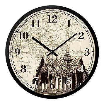 WERLM Página de inicio personalizada relojes antiguos reloj de pared Reloj de pared Reloj de pared