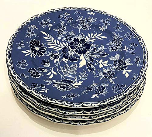 "Johnson Brothers England Devon Cottage Salad/Luncheon Plates | Set of 4 | 8.75"" Diameter 