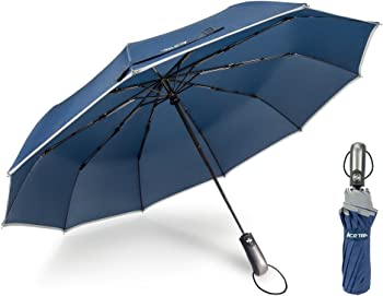 Ace Teah Windproof Auto Open Close Travel Umbrella