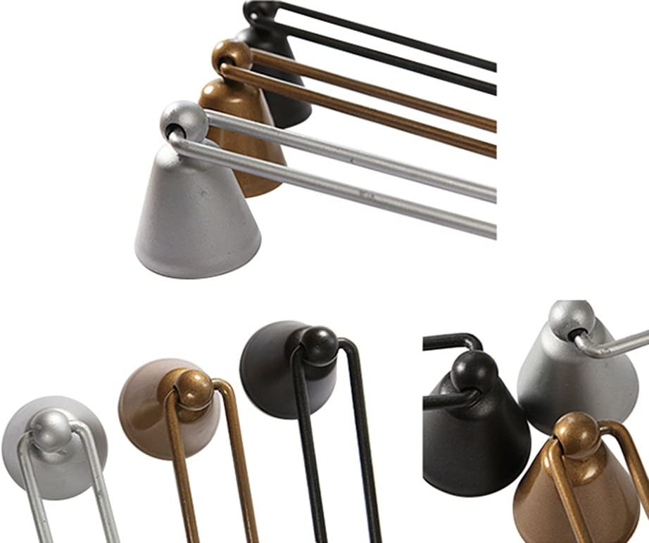 Black Frjjthchy Iron Flame Wick Snuffer Long Handle Bell Shaped Candle Snuffer Black
