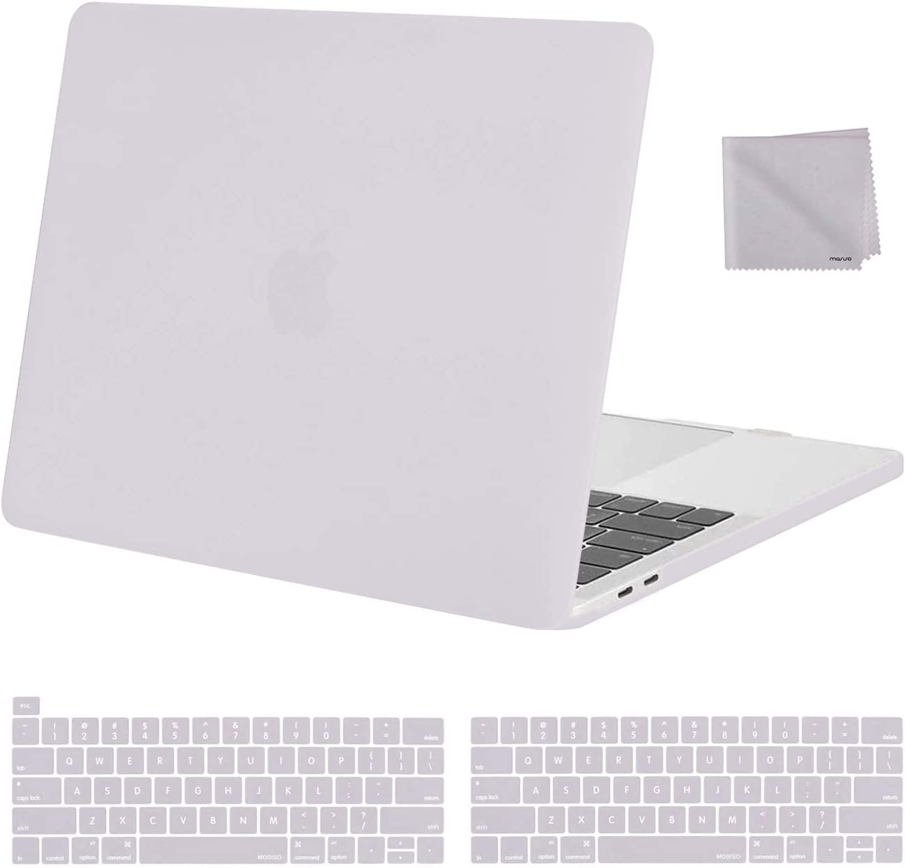 MOSISO MacBook Pro 13 inch Case 2020 2019 2018 2017 2016 Release A2289 A2251 A2159 A1989 A1706 A1708, Plastic Hard Shell&Keyboard Cover&Wipe Cloth Compatible with MacBook Pro 13 inch, Rock Gray
