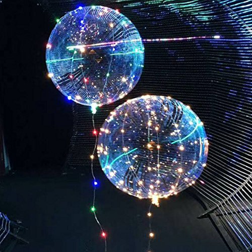 Dreamworth 4-Pack Balloon String Lights,18-inch Bobo Balloons with 3 Meter Led Copper Lights, Bobo String Lights for Christmas,Birthday Party,Gift for Child,Kid,lover (Multicolor)