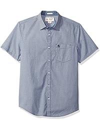 Original Penguin Men's Short Sleeve Geo Printed Shirt...
