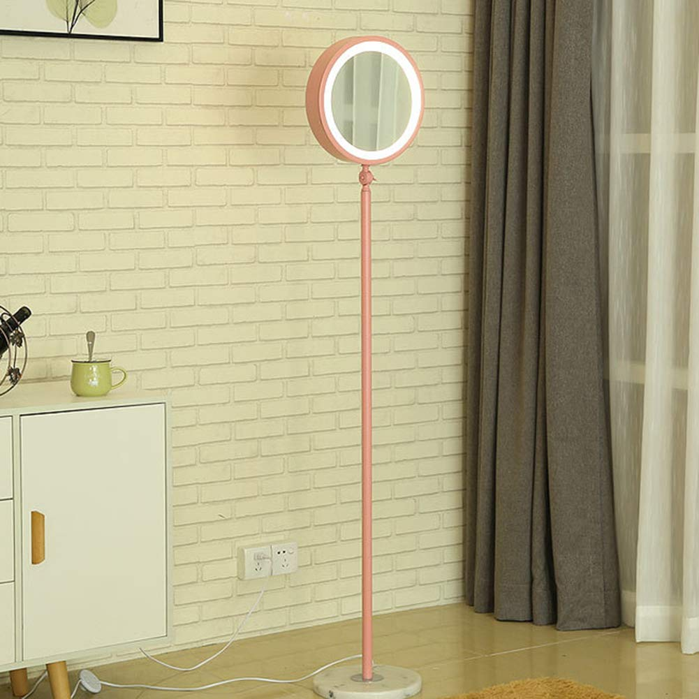 YAYONG Floor Lamp Nordic Modern Creative Simple Gold Lamp Living Room Bedroom Study Led Light,Pink