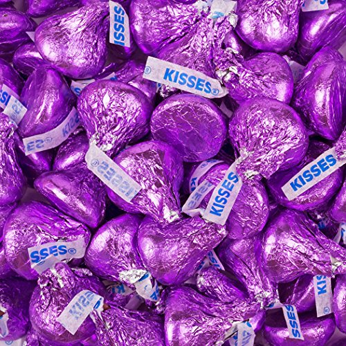 HERSHEY'S KISSES Easter Chocolates Candy Purple Foil, 66.7 Ounce Bulk Bag