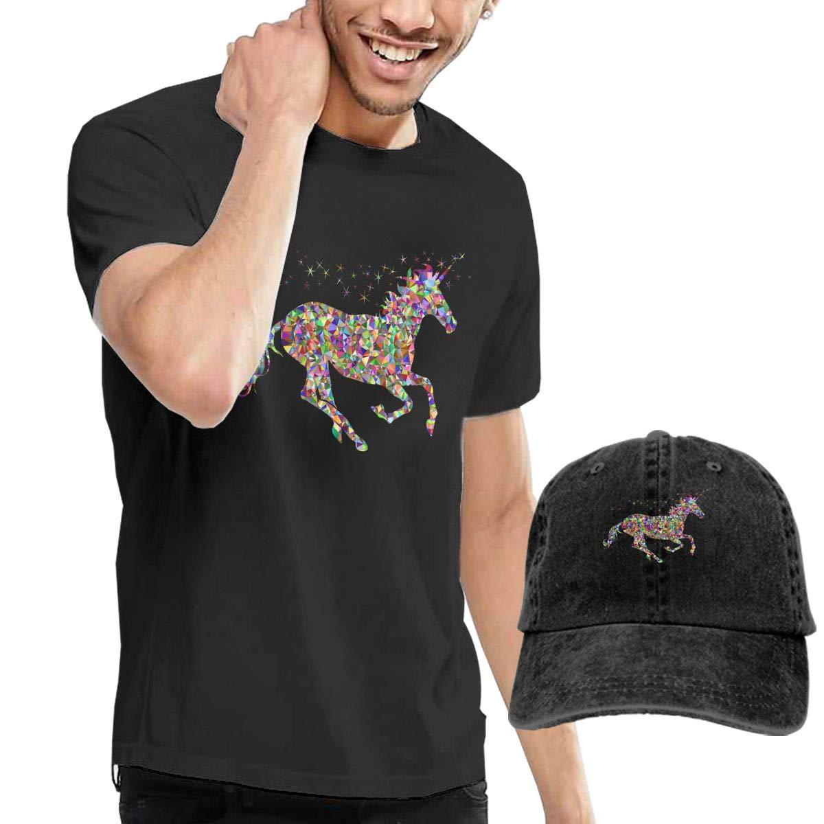 Rainbow Unicorn Fashion Mens T-Shirt and Hats Youth /& Adult T-Shirts