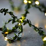 Urbanace Leaf Fairy Lights 3 M 30 Leds Leaf Garland Battery Operate Copper Led Fairy String Lights