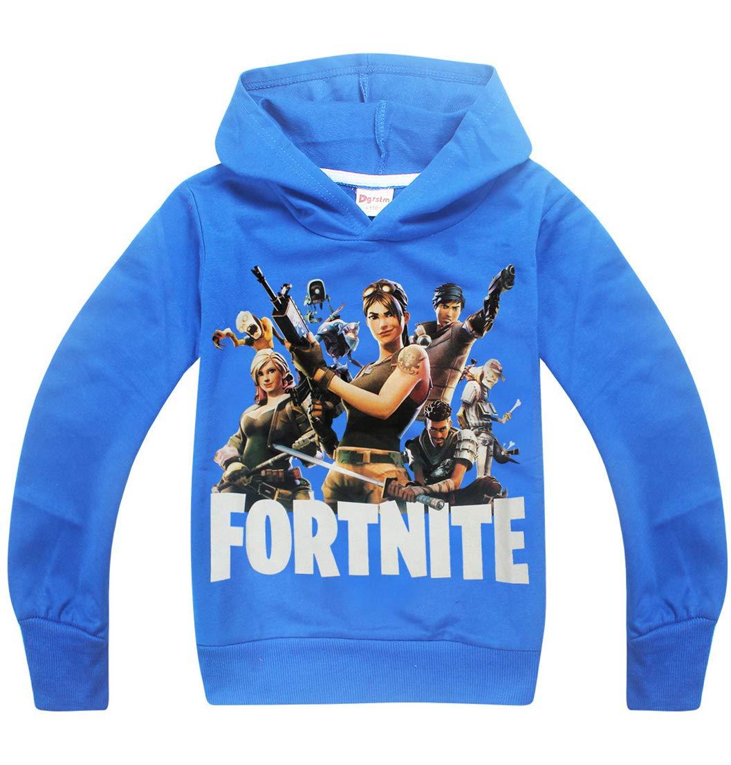 OLIPHEE Sweat-Shirt à Capuche avec Le Bas Enfant Imprimer Motifs de Fortnite