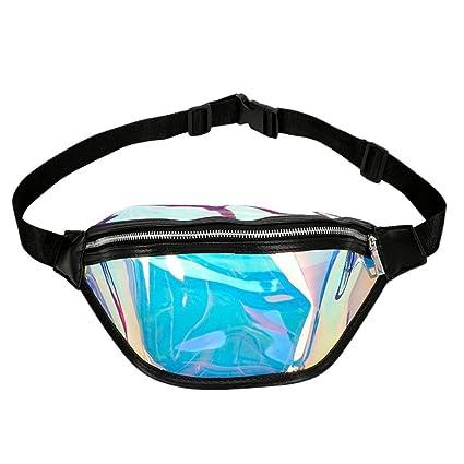 b194a68ba912 Amazon.com : Girls Women Fashion Beach Bag Giltter Shiny Waist Pack ...